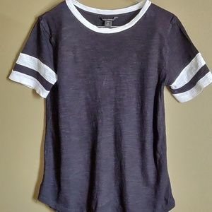 Banana Republic, Loose, Pull Over Black Tee XS